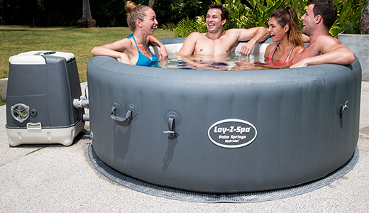 Lay-Z-Spa Palm Springs Hydrojet Hot Tub