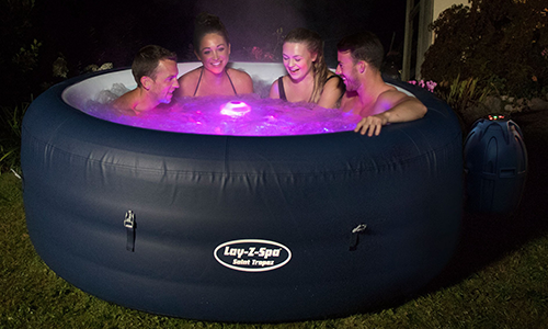 Lay-Z-Spa Saint Tropez Hot Tub with Floating LED Light