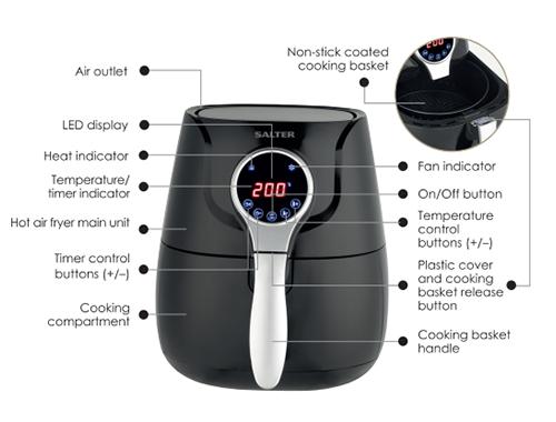Salter EK2205 Healthy Digital Hot Air Fryer