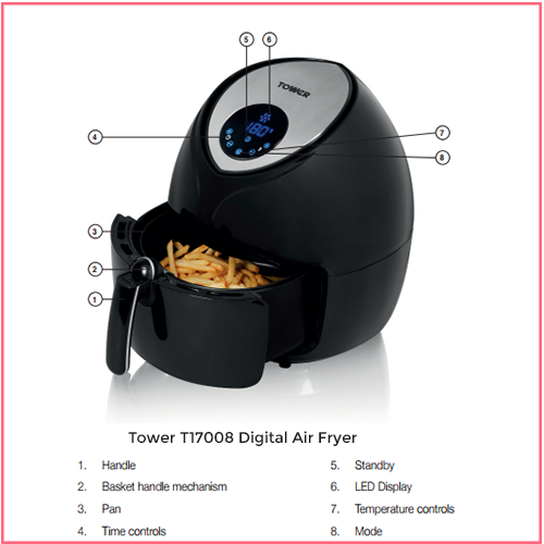 Tower T17008 Digital Family Air Fryer