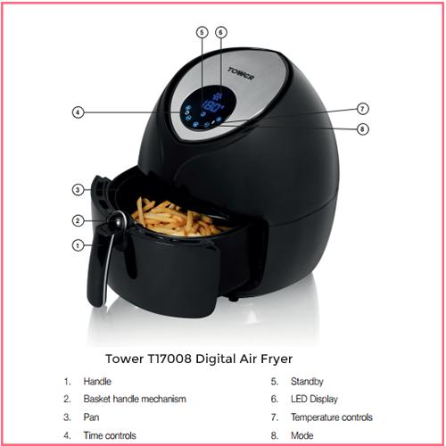 Tower T17008 Digital Family Air Fryer