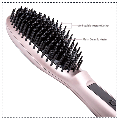 AsaVea Hair Straightener Brush 3.0